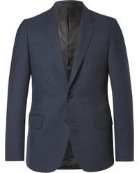 Paul Smith Blue Soho Slim Fit Gingham Wool Suit Jacket