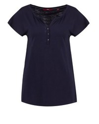 s.Oliver Basic T Shirt Navy