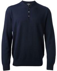 Navy Henley Sweater