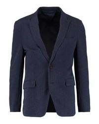 Esprit Herringbone Suit Jacket Navy