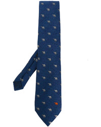 Etro Polar Bear Herringbone Tie
