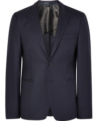 Acne Studios Blue Stanford Slim Fit Herringbone Wool Suit Jacket