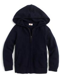 J.Crew Kids Italian Cashmere Zip Front Hoodie