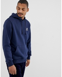Converse Small Logo Hoodie In Navy 10008814 A02