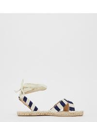 ASOS DESIGN Wide Fit Jala Espadrille Flat Sandals