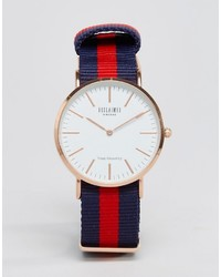 Inspired canvas stripe watch in navyred to asos medium 744602