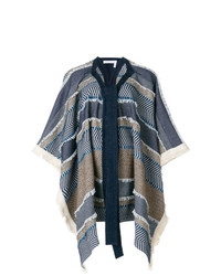 See by Chloe See By Chlo Oversized Draped Patterned Coat