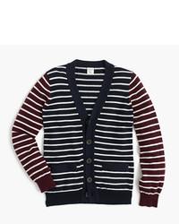 J.Crew Boys Cotton Cashmere Mash Up Cardigan Sweater