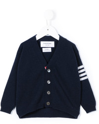 Thom Browne Kids V Neck Cardigan
