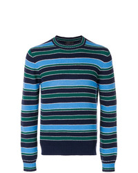 Prada Crew Neck Striped Jumper