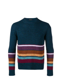 Prada Knit Panelled Jumper