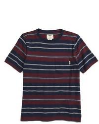 3be2fde823 Men s Horizontal Striped T-shirts by Vans