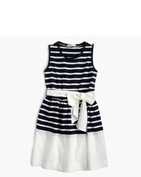 J.Crew Girls Belted Stripe Dress