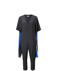 Stella McCartney Striped Cape Monogram Jumpsuit