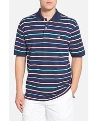 Brooks Brothers Slim Fit Stripe Piqu Knit Polo