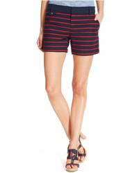 Navy Horizontal Striped Shorts
