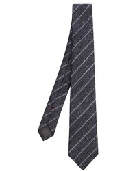 Brunello Cucinelli Diagonal Striped Silk Tie