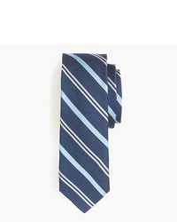 J.Crew English Silk Tie In Navy Multistripe