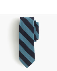 J.Crew English Wool Silk Tie In Double Stripe