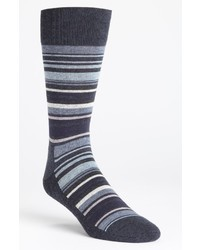 Navy Horizontal Striped Socks