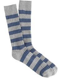 J.Crew Ribbed Striped Socks