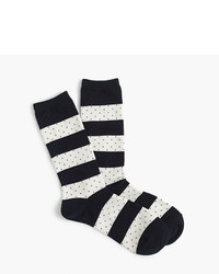 J.Crew Trouser Socks In Stripes And Dots