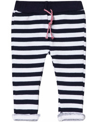 Navy Horizontal Striped Sweatpants