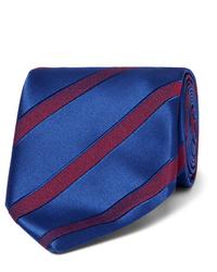 Charvet 75cm Striped Wool And Silk Blend Jacquard Tie