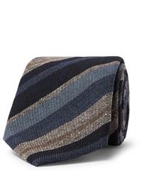 Brioni 8cm Striped Wool And Silk Blend Tie