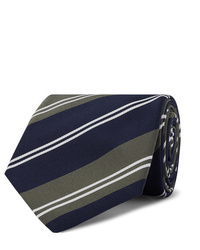 Kingsman Drakes 8cm Striped Silk And Cotton Blend Twill Tie