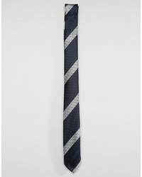 Asos Stripe Tie In Navy