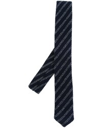 Eleventy Striped Woven Neck Tie