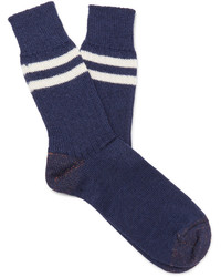 Junya Watanabe Striped Wool Socks