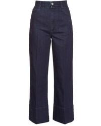 Stella McCartney High Rise Wide Leg Cropped Jeans