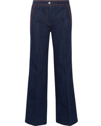 Tod's High Rise Wide Leg Jeans Dark Denim