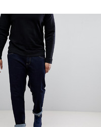 Duke King Size Tapered Fit Jeans In Indigo With Stretch