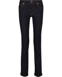 Prada Mid Rise Straight Leg Jeans Dark Denim