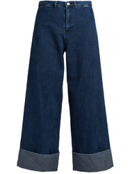 Mid rise wide leg cropped jeans medium 1156774