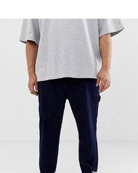 ASOS WHITE Plus Skater Jeans In Neppy Indigo Denim