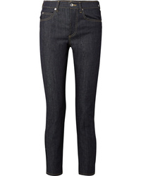 Eve Denim Silver Bullet High Rise Straight Leg Jeans