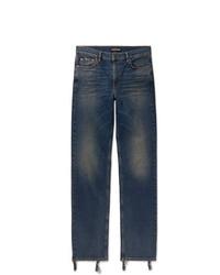 Balenciaga Skinny Fit Distressed Denim Jeans