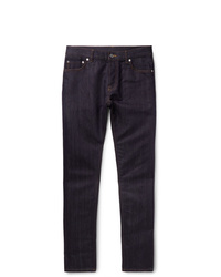 Berluti Slim Fit Cotton And Mulberry Silk Blend Denim Jeans