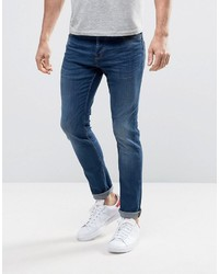 ONLY & SONS Slim Fit Stretch Jeans In Medium Blue Wash