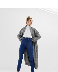 Collusion Slim Mom Jeans In Dark Stone Wash