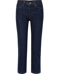 Goldsign The Low Slung Cropped Mid Rise Straight Leg Jeans