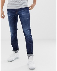 Diesel Thommer Stretch Slim Fit Jeans In 0878n Mid Dark Wash