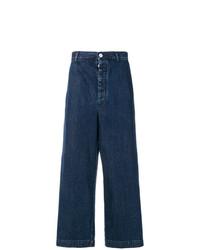 Sunnei Wide Leg Cropped Jeans