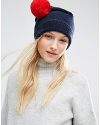 Tommy Hilfiger Knitted Beanie With Detachable Pom In Two Colors