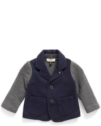 Armani Junior Infant Boys Contrast Sleeve Knit Blazer