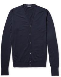 Bryn fine knit merino wool cardigan medium 336351
